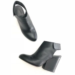 Vince 'Ingrid' Leather Block Cut Out Ankle Booties
